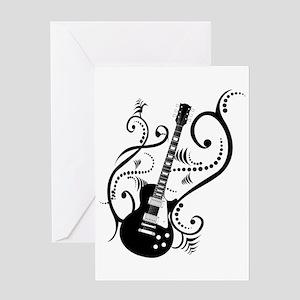 Guitar player greeting cards cafepress retro guitar waves greeting card m4hsunfo