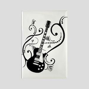 Retro Guitar waves Rectangle Magnet