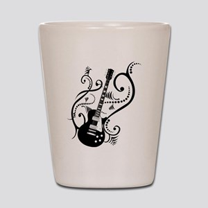 Retro Guitar waves Shot Glass