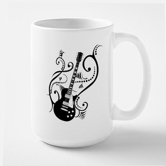 Retro Guitar waves Large Mug