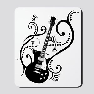 Retro Guitar waves Mousepad
