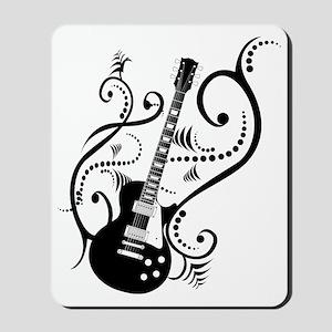 Retro Guitar waves Mousepad
