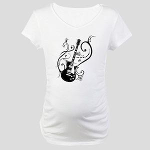Retro Guitar waves Maternity T-Shirt