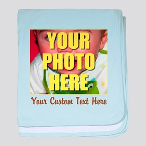 Custom Photo and Text baby blanket