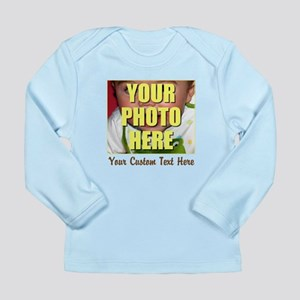 Custom Photo and Text Long Sleeve Infant T-Shirt