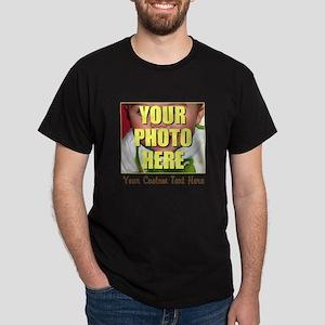 Custom Photo and Text Dark T-Shirt