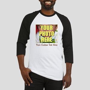 Custom Photo and Text Baseball Jersey