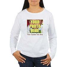 Custom Photo and Text Women's Long Sleeve T-Shirt