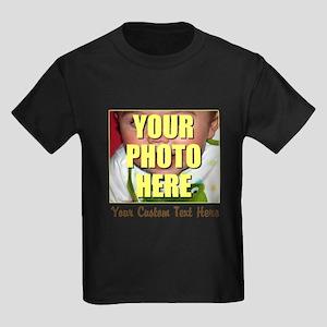Custom Photo and Text Kids Dark T-Shirt