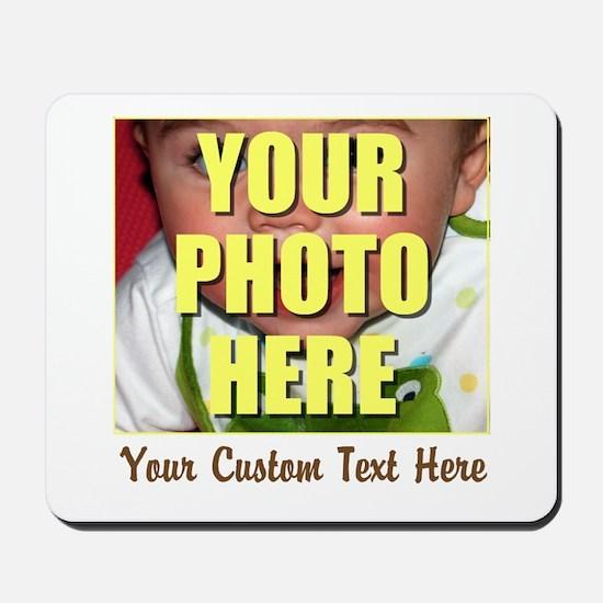 Custom Photo and Text Mousepad
