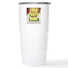 Custom Photo and Text Stainless Steel Travel Mug