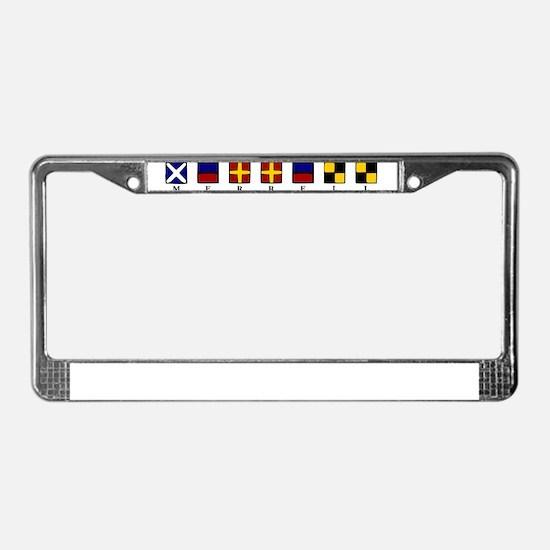 Funny Sailing flag License Plate Frame