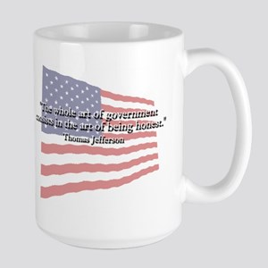 Thomas Jefferson: Honesty Quote Large Mug
