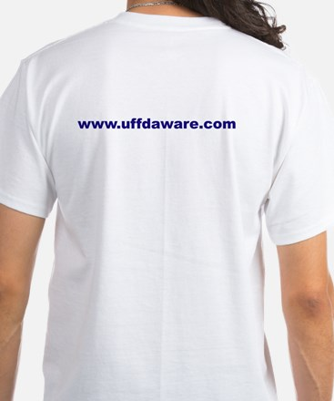 Made in America Uffdaware back White T-Shirt
