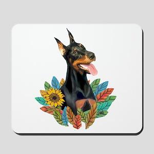 Leaves2-Doberman Pinscher Mousepad