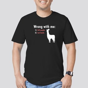Wrong with Me Men's Fitted T-Shirt (dark)