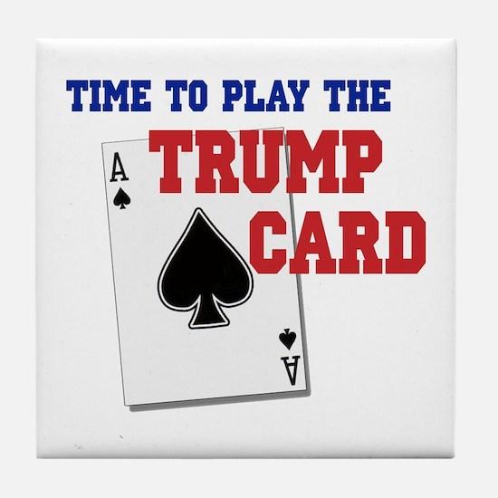 Trump Card Tile Coaster