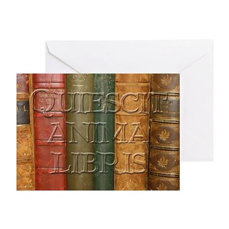 """""""Quiescit Anima Libris"""" Greeting Cards (Pk of 20)"""