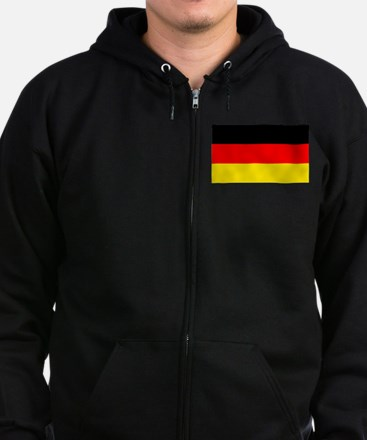 German Flag Zip Hoodie (dark)