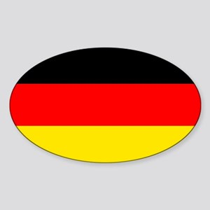 German Flag Sticker (Oval)