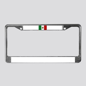 Mexican Flag License Plate Frame