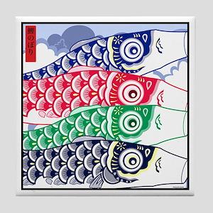 Koi Waves Tile Coaster