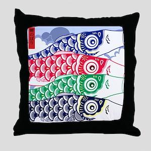 Koi Waves Throw Pillow