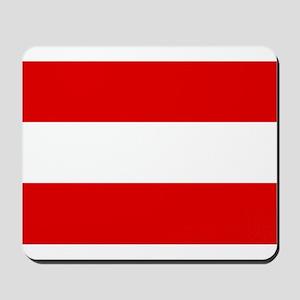 Austrian flag Mousepad