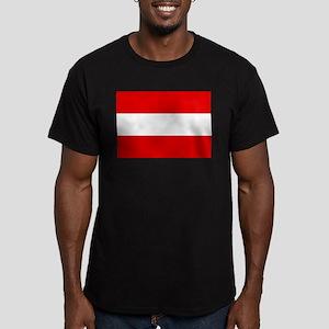 Austrian flag Men's Fitted T-Shirt (dark)