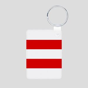 Austrian flag Aluminum Photo Keychain