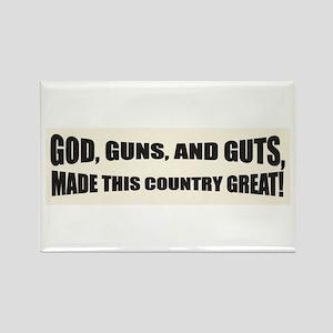 God Guns And Guts Rectangle Magnet