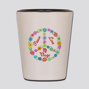 Peace Love Virgo Shot Glass