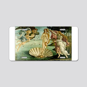 The Birth of Venus Aluminum License Plate