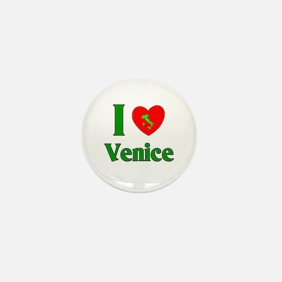 I Love Venice Mini Button