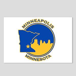 Minneapolis Golden Skyline Postcards (Package of 8
