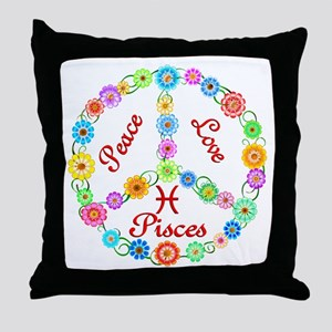 Peace Love Pisces Throw Pillow