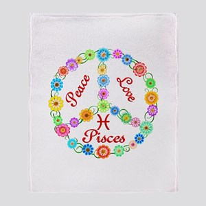 Peace Love Pisces Throw Blanket