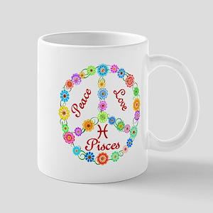 Peace Love Pisces Mug
