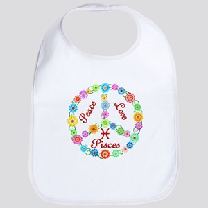Peace Love Pisces Bib