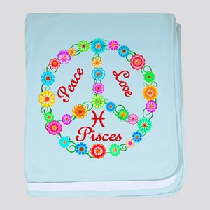 Peace Love Pisces baby blanket