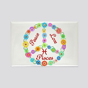 Peace Love Pisces Rectangle Magnet