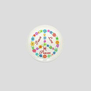 Peace Love Pisces Mini Button