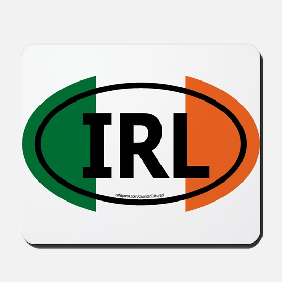 """IRL"" Ireland Euro Flag 2 Mousepad"
