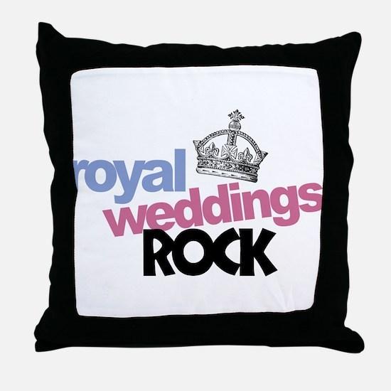 Royal Weddings Rock Throw Pillow