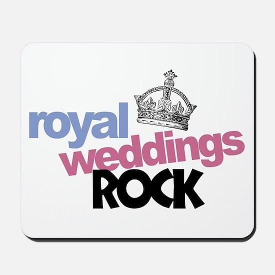 Royal Weddings Rock Mousepad