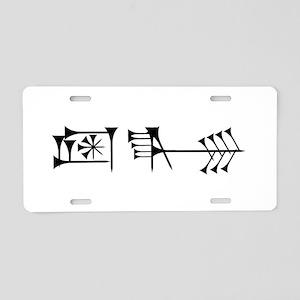 Ama-gi Aluminum License Plate