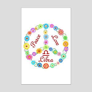 Peace Love Libra Mini Poster Print