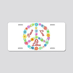 Peace Love Libra Aluminum License Plate