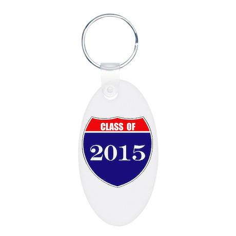 Class of 2015 Aluminum Oval Keychain