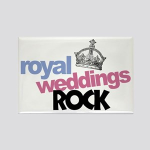 Royal Weddings Rock Rectangle Magnet